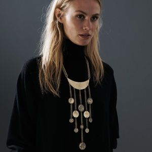 Brass & Coin necklace